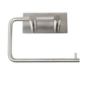 K.ONE KONE Stainless Steel Self Adhesive Toilet Paper Holder Stand , Brushed