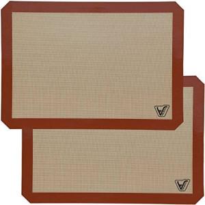 Velesco Silicone Baking Mat - Set of 2 Half Sheet (Thick and Large 11 5