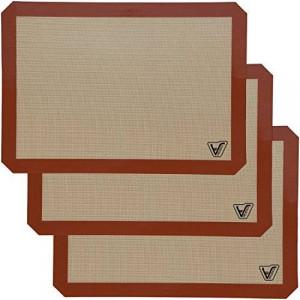 Velesco Silicone Baking Mat - Set of 3 Half Sheet (Thick and Large 11 5