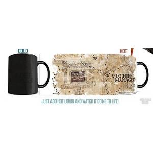 Morphing Mug Harry Potter (Marauder's Map) Ceramic Mug, Black