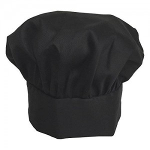 Obvious Chef - Black Chef Hat - Adjustable Velcro Fit - Adult (Black)
