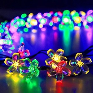 Jobelle Solar Fairy De50 LED String Lights, 22 Foot, Multi-Color