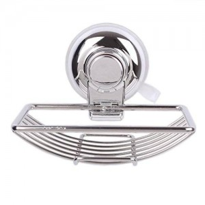 GThunder Vacuum Suction Cup Soap Dishes Holder Stainless Steel,Power Lock Suction Soap Dish for Shower