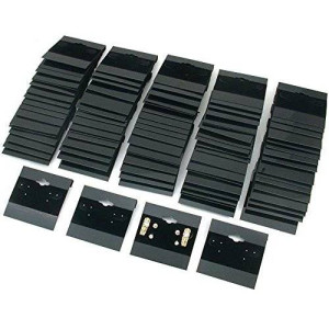 "Black Velvet Plastic Display Cards for Earrings, Jewelry Accessories, 2""X2"" (100 Pk) by Super Z Outlet"