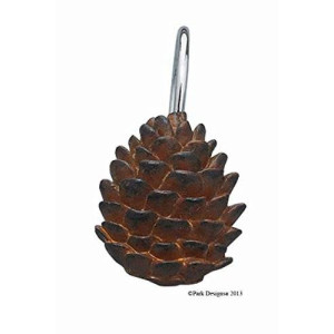 Park Designs Pinecone Shower Curtain Hooks (Set of 12)