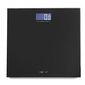 Weighmax 440LB Digital Tempered Glass Fitness Bathroom Scale with Step-On Tech