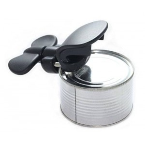 Bartelli Soft Edge Manual Safety Can Opener, Jar Opener and Bottle Opener - compact 3 in 1 ambidextrous design for right or left handed use
