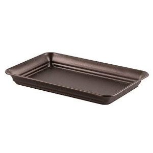 InterDesign Vanity Guest Towel and Bath Toiletries Tray, Bronze