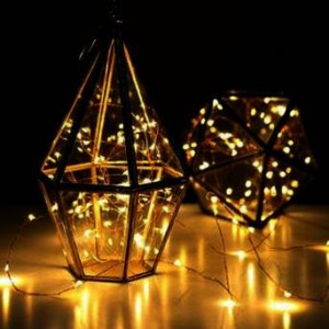 LED SopoTek 7ft 20 LEDS Yellow Starry Lights Fairy Lights Copper LED Lights Strings AA Battery Powered Ultra Thin String Wire
