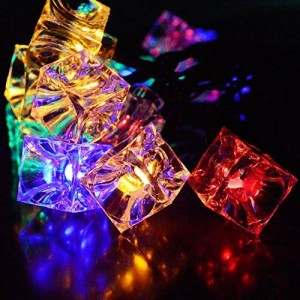 Ucharge Solar Fairy String Lights 30 LED Ice Cube Deck Lights for Gardens