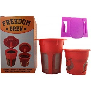 Freedom Brew 2.0 K-CARAFE 2.0 Reusable Filter and K-CUP 2.0 Single Cup Reusable Filters w
