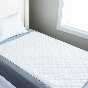 "LINENSPA 34"" x 52"" Non Skid Waterproof Sheet Protector Incontenence Underpad with Highly Absorbent Fill Layer and Soft Cotton Blend Cover"