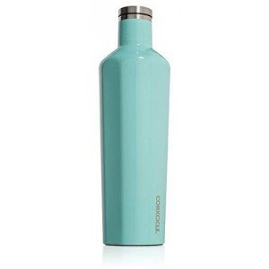Corkcicle Canteen Insulated Stainless Steel Bottle/Thermos, 25 oz, Turquoise
