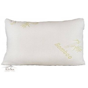 Relax Home Life Bamboo Pillow - Shredded Memory Foam - Stay Cool Removable Cover With Zipper - Hotel Quality Hypoallergenic Pillow Relieves Snoring