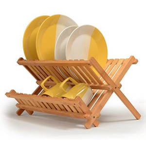 Bambüsi By Belmint 100% Natural Bamboo Folding Dish Rack