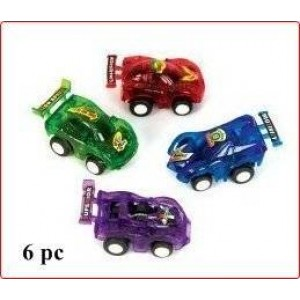WD New!! Pull Back Race Cars - 6 Pc Stocking Stuffers