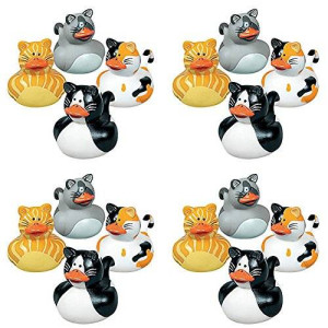 Fun Express Vinyl Cat Rubber Duckies (1 Dozen)