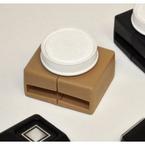 Buckle Guard Car Seat Button Cover - Tan
