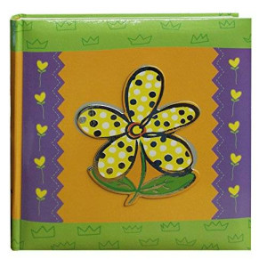 Pioneer Photo Albums 200-Pocket 3-D Daisy Applique Cover Photo Album, 4 by 6-Inch