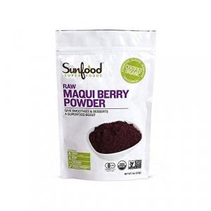 Sunfood Maqui Berry Powder, Certified Organic, Non-GMO Verified, Vegan, Raw, 4oz