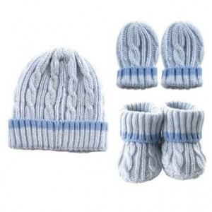 Cableknit Hat, Mitten and Booties Gift Set