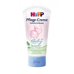 HiPP Baby Gentle Care Cream Face and Body 75ml / 2.54oz. with organic almond oil
