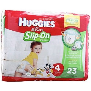 Huggies Little Movers Slip-On Diapers - Size 4 - 23 ct