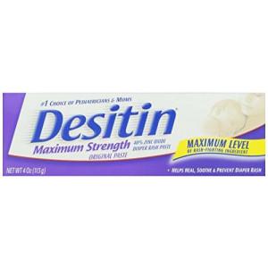 Desitin Diaper Rash Paste Maximum Strength, 4-Ounce