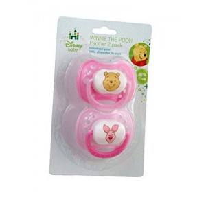 Disney Baby Winnie The Pooh Baby Pacifier 2 Pack - Pink and Light Pink