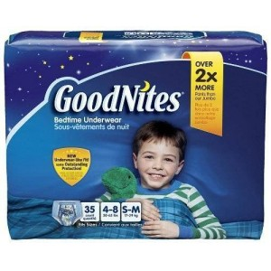 GoodNites for Boys, Small/Medium 35 Count