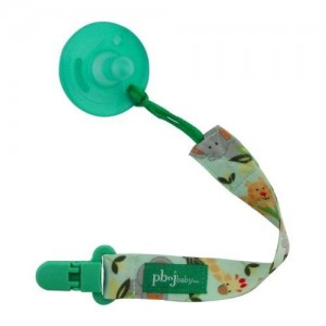 PBnJ Baby Paci Holder Pacifier Holder, Jungle
