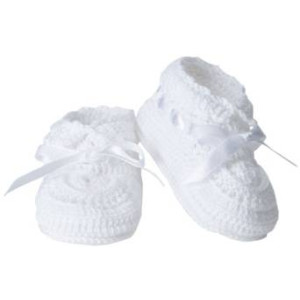 Jefferies Socks Baby Girls' Hand Crochet Bootie