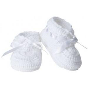 Jefferies Socks Baby Girls' Hand Crochet Bootie