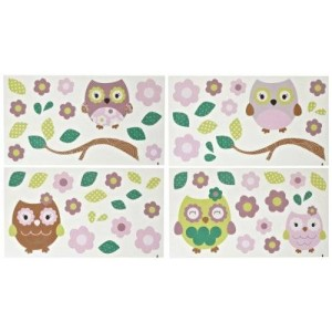 Cocalo CoCo and Company Removable Wall Appliques, Owl Wonderland