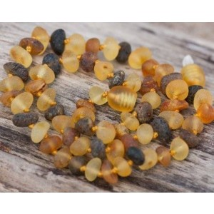 Gumstone Raw Baltic Amber Teething Necklace