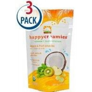 HAPPYBABY Happy Baby Happy Creamies Apple Spinach Pea and Kiwi -- 1 oz Each / Pack of 3