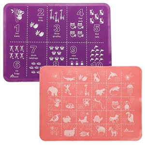 Brinware Placemat Set - ABC and 123 - Pink/Purple