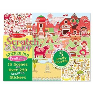Melissa & Doug Melissa and Doug Scratch and Sniff Fruitville Sticker Pad Toy