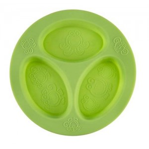 oogaa Silicone Baby and Toddler Divided Plate - Green