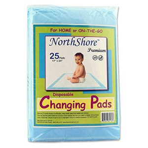 NorthShore Premium Changing Pads, Blue 8 oz., 17x24 in., 25