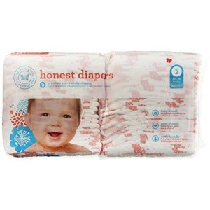 The Honest Company Size 2 Diapers (Giraffe) 12-18 Lbs - One Package of 40 Honest Diapers