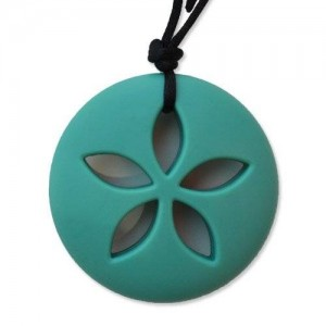 Sand Dollar Teething Necklace by Zen Rocks - a Stylish New Twist to Teething - Turqoise