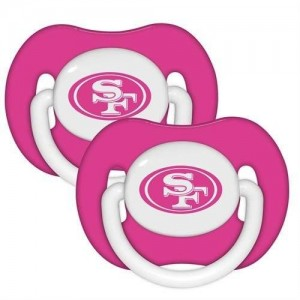 BaFanatic Baby Fanatic Pacifier (2 Pack) Pink - San Francisco 49ers