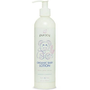 Puracy Organic Baby Lotion - The BEST Calming Moisturizer - Gentle - Non-Toxic - Nourishing - Lavender and Grapefruit - 12 Ounce Bottle