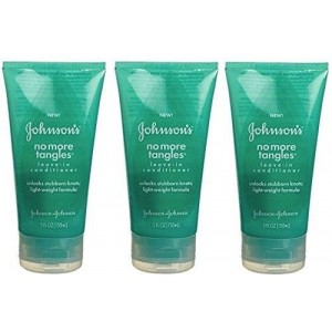 Johnson's Jonnson and Johnson No More Tangles Leave-In Conditioner 5 oz (Pack of 3)