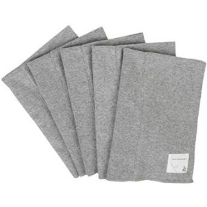 Burt's Bees Baby Unisex Baby 5 Pack Burp cloths (Baby) - Heather Grey