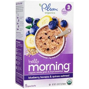 Plum Organics Stage 3 Hello Morning - Blueberry, Banana and Oatmeal - 3 oz