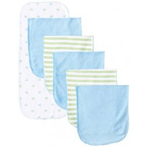 Gerber Baby-Boys Newborn 6 Pack Terry Burpcloths Cars