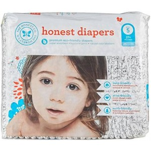 The Honest Company Disposable Diapers - Skulls - Size 5 - 25 ct