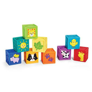 Earlyears Squeak 'n Stack Blocks Baby Toy